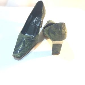 Fashion Influence Green and Gold Shoes